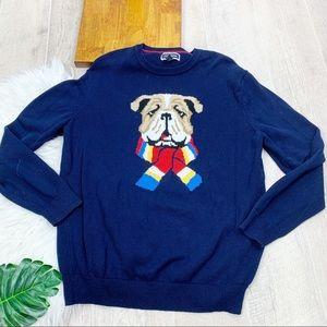 Club Room Bulldog Printed Crew Neck Sweater 3449